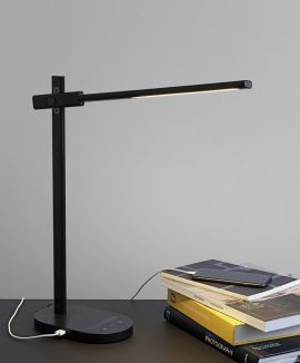 Halo Design Office Adjust Light Skrivbordslampa med USB svart