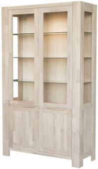Newline Balder Vitrinskåp 2 dörrar vitoljad ek