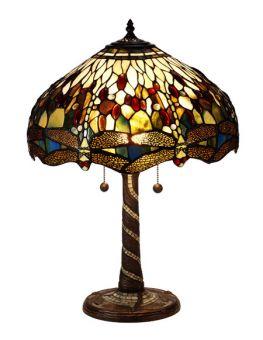 Nostalgia Design Trollslända Tiffany bordslampa grön 58cm