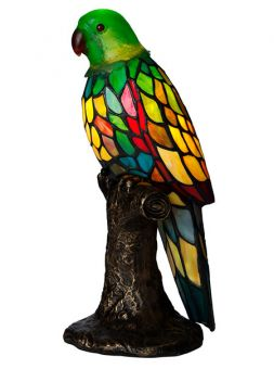 Nostalgia Design Papegoja Tiffany grön 36cm