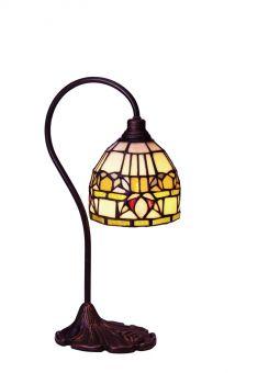 Fuchsia Tiffany bordslampa 39cm