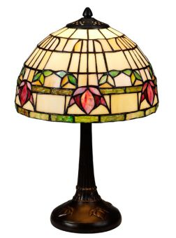 Nostalgia Design Fuchsia Tiffany bordslampa 40cm