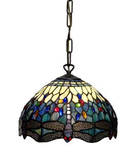 Nostalgia Design Trollslända Tiffany taklampa blå 30cm