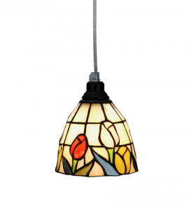 Nostalgia Design Tulipana Tiffany fönsterlampa 14cm