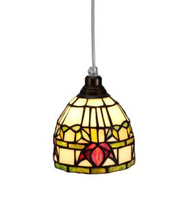 Nostalgia Design Fuchsia Tiffany fönsterlampa 14cm