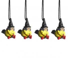 Hängande Påskkärring gul 4cm 4-pack
