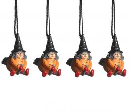 Hängande Påskkärring orange 4cm 4-pack