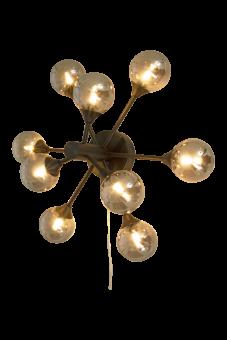Cosmos Vägglampa svart/rökgrå 52,5cm