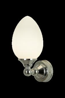 Luigi Vägglampa krom/opalvit 23,5cm
