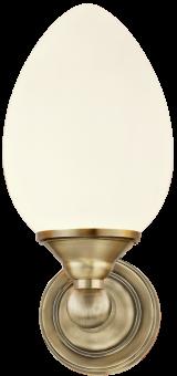 Luigi Vägglampa antik/vit 23,5cm