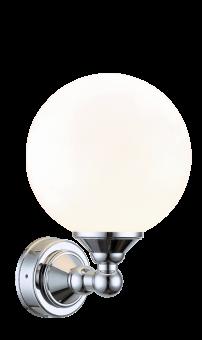 Lugano Vägglampa krom/opalvit 20cm