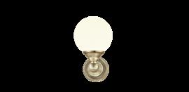 Lugano Vägglampa antik/vit 20cm
