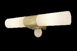 Cosenza Vägglampa matt mässing/opalvit 43,5cm