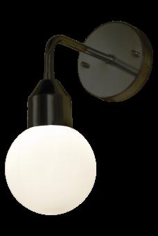 Florens Vägglampa svart/opalvit 32cm