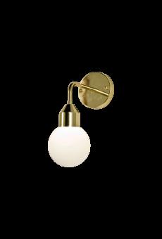 Florens Vägglampa mässing/opalvit 32cm