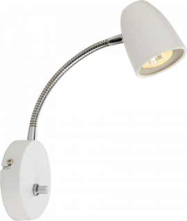 Sandnes Vägglampa vit/krom 24cm