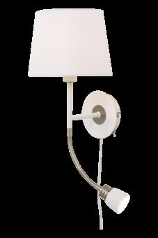 Eketorp Vägglampa vit/stål 43cm
