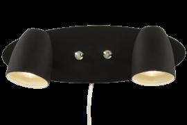 Sandnes Vägglampa svart 32cm
