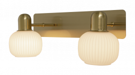 Messina Vägglampa matt mässing/opalvit 34,5cm