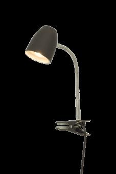Sandnes Sänglampa svart/krom 40cm