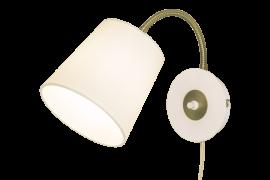 Ljusdal Vägglampa vit/matt mässing 31cm
