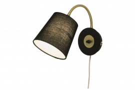 Ljusdal Vägglampa svart/matt mässing 31cm