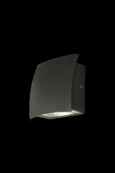 Flip Vägglampa mörkgrå 13cm