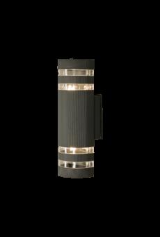 Ribb Vägglampa mörkgrå 31cm