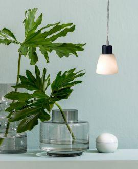 Småland Fönsterlampa vit/svart 13,5cm
