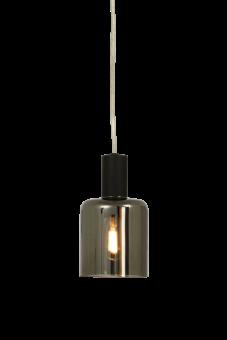 Cylinder Fönsterlampa svart/rökgrå 16cm
