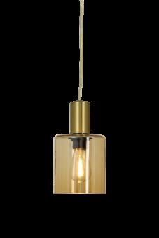 Cylinder Fönsterlampa matt mässing/amber 16cm