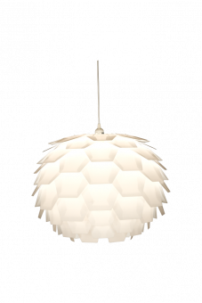 Carpatica Taklampa vit 60cm