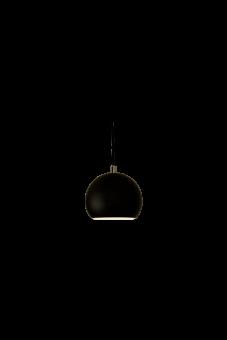 Kulan Fönsterlampa svart 15cm