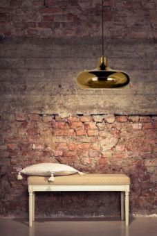 Lounge Taklampa mörk guld 39cm