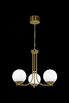 Orfeus Taklampa matt mässing/opalvit 43,5cm