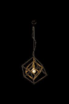 Cubes Taklampa svart/matt mässing 63cm