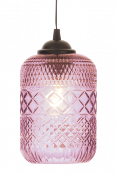 Minna Fönsterlampa rosa 21cm
