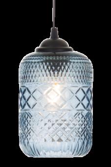 Minna Fönsterlampa blå 21cm