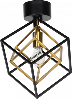 Cubes Plafond svart/antik 40cm