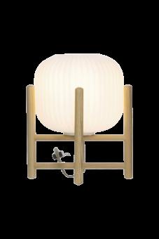 Vinda Bordslampa trä/vit 29cm