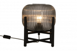 Vinda Bordslampa svart/rökgrå 32cm
