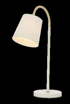 Ljusdal Bordslampa vit/matt mässing 49cm