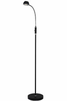 Juno Golvlampa svart/krom 128cm