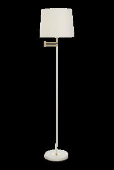 Birka Golvlampa vit/matt mässing 155cm