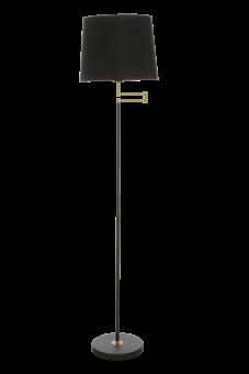 Birka Golvlampa svart/matt mässing 155cm