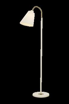 Ljusdal Golvlampa vit/matt mässing 140cm