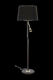 Eketorp Golvlampa svart/matt mässing 145cm