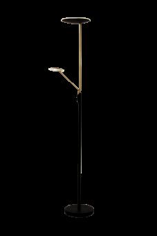 Cadiz Uplight svart/matt mässing 186cm