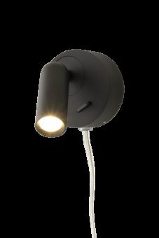 Fenja Vägglampa svart 7,5cm