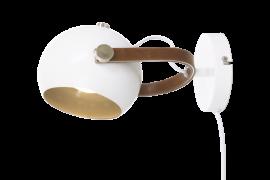 Bow Vägglampa vit/brun/silver 24cm